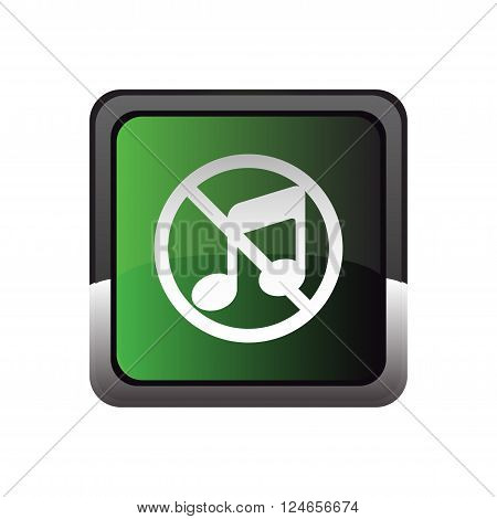 Music button represented by a green icon