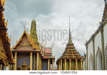 Famous Temple In Bangkok, Thailand. (Wat Phra Kaew)