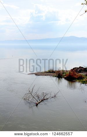 Picture of a Lake Ohrid macedonia.Travel destination