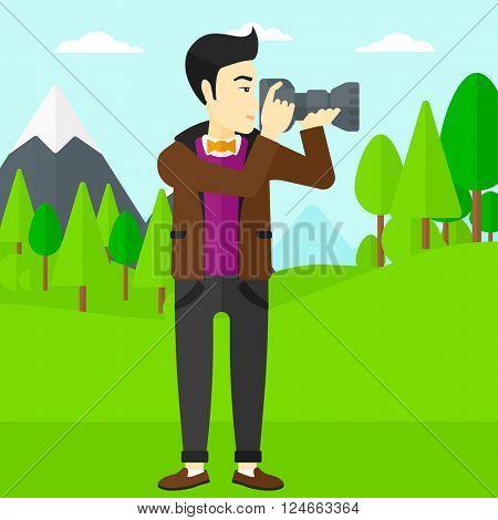 Photographer taking photo.