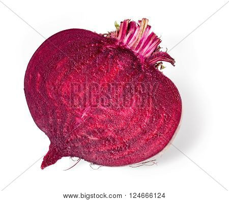 Beetroot. Half of vegetable isolated on white background.