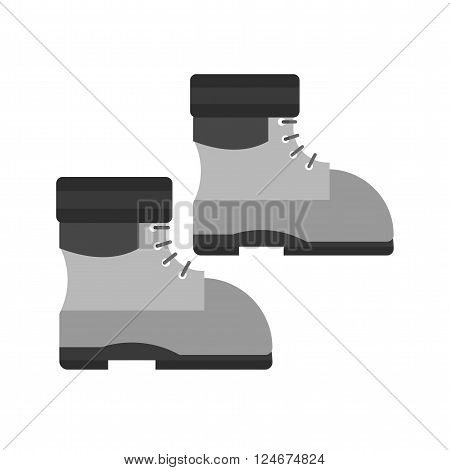 Boot, warm, winter icon vector image.Can also be used for winter. Suitable for use on web apps, mobile apps and print media.