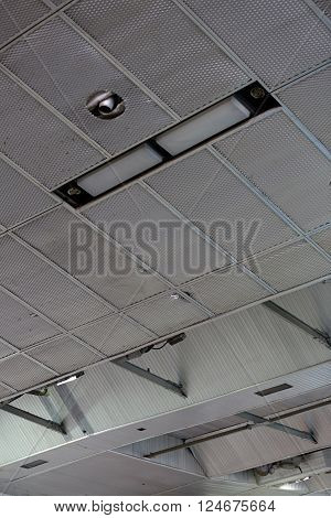The Ceiling In The Industrial Building