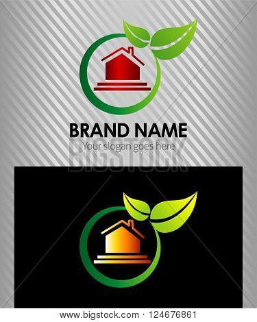 Vector house logo for company isolated, identity