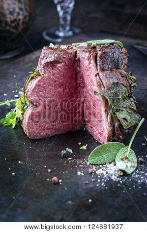 Sirloin Steak on old Sheet