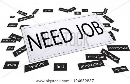 Need Job Search Application Occupation Career Concept