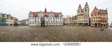 The Main Square Of Luther City Wittenberg In Germany