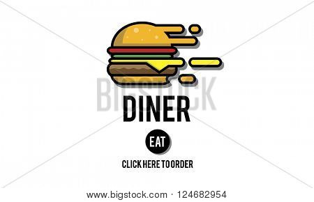 Diner Eating Restaurant Cafe Concept