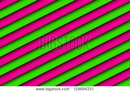 Pink and green abstract background with diagonal stripes