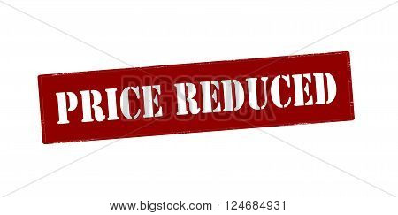 Rubber stamp with text price reduced inside vector illustration`