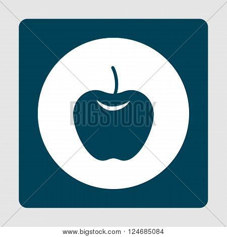 Apple Icon In Vector Format. Premium Quality Apple Icon. Web Graphic Apple Icon Sign On Blue Backgro