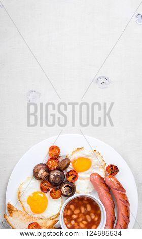 Full English Breakfast Background