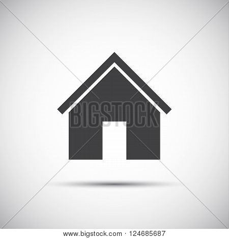 Simple vector home icon for your web design and template