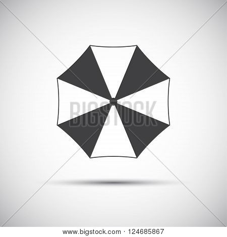 Simple grey beach umbrella icon vector illustration