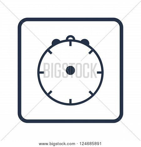 Clock Icon In Vector Format. Premium Quality Clock Icon. Web Graphic Clock Icon Sign On Blue Round B