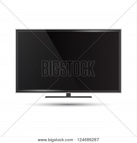 Vector illustration of a modern flat screen television