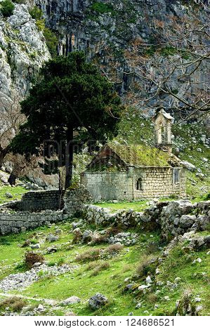 Old church in the vicinity of Kotor, Montenegro