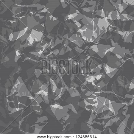 Vector illustration of grey camouflage. Camouflage modern design.