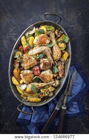 Mediterranean Chicken with Vegetable