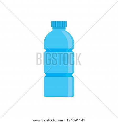 Bottle of water. Icon bottle of water in flat style. Vector illustration.