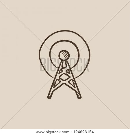 Antenna sketch icon.