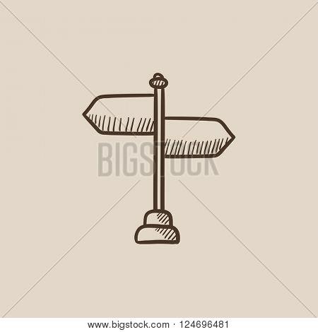 Travel traffic sign sketch icon.