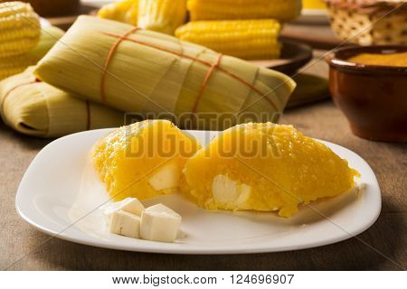 Pamonha With Cheese - Typical Food Of Green Corn - Tasty And Cheap - Typical And Popular Street Food