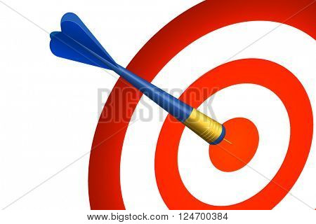 vector of abstract dart and target on white