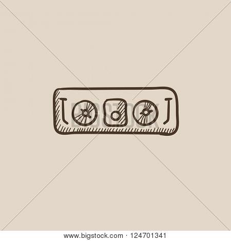 DJ console sketch icon.