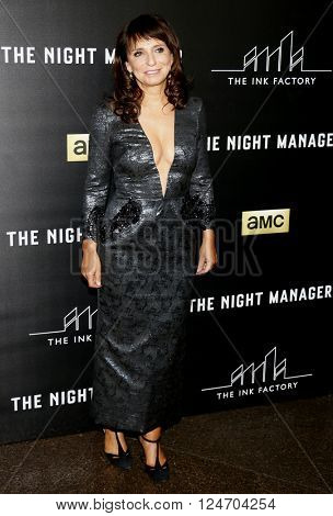 Susanne Bier at the Los Angeles premiere of 'The Night Manager' held at the DGA Theater in Hollywood, USA on April 5, 2016.