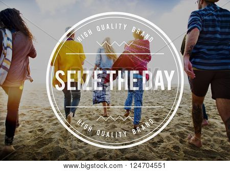 Seize the Day Collect Moments Memory Enjoyment Concept
