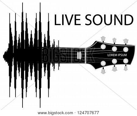 Sound wave transformation into Guitar.  Concept baner