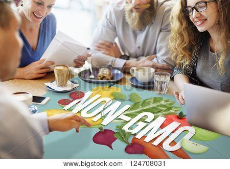 Non-GMO Nature Organic Plant Technology Concept
