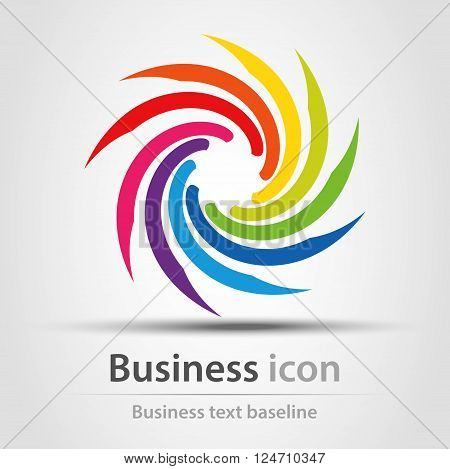 Rainbow colors twister business abstract icon symbol