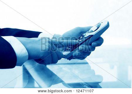 take phone