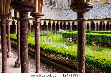 Cloister In Le Mont-saint-michel