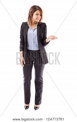 Businesswoman Looking At A New Product