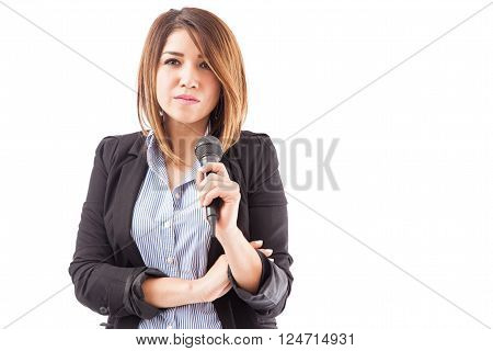 Confident And Successful Presenter