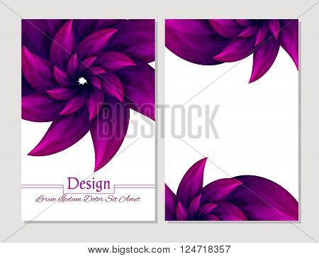 Set of vector design templates.Corporate Identity kit or business kit with artistic abstract colorful design for your business. Vector abstract booklet cover. Beauty brochure. Crimson and white