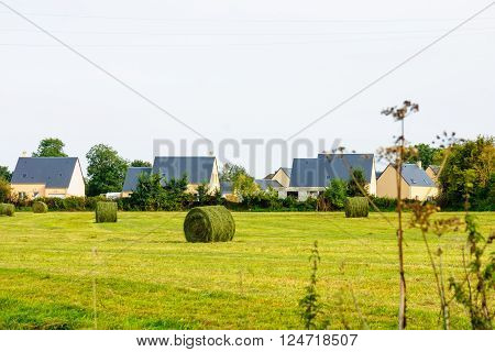 Countryside And Haystacks In Normandy