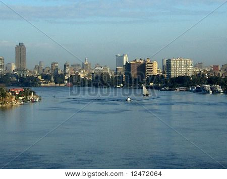 River Nile in Cairo, Egypt.