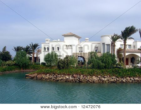 Island in El Gouna, Egypt