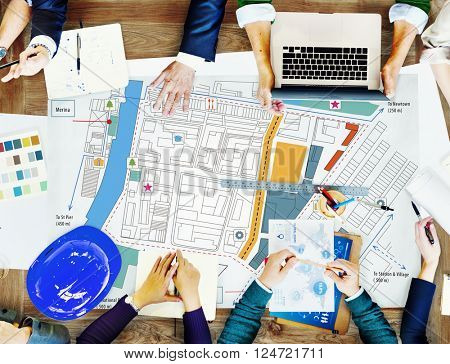 City Urban Blueprint Plan Infrasrtucture Concept