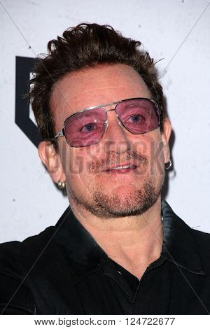 LOS ANGELES - APR 3:  Bono at the iHeart Radio Music Awards 2016 Press Room at the The Forum on April 3, 2016 in Inglewood, CA