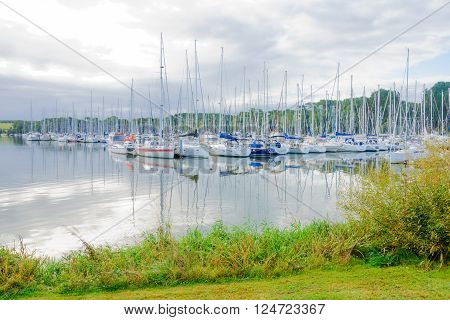 Marina With Yachts Near Saint-molf