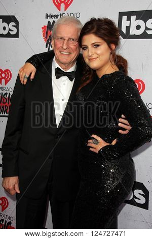 LOS ANGELES - APR 3:  Gary Trainor, Meghan Trainor at the iHeart Radio Music Awards 2016 Arrivals at the The Forum on April 3, 2016 in Inglewood, CA