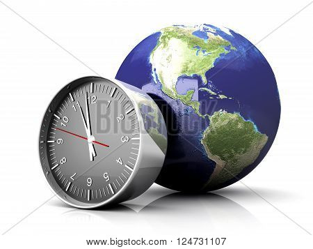The World time. A 3D rendered Illustration.