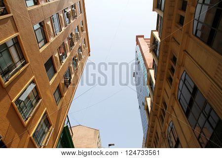 Modern Architecture in Santiago de Chile Chile South america.