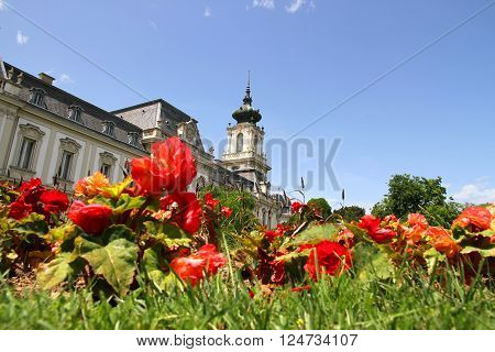 The famous Castle Festetics in Keszthely Hungary.