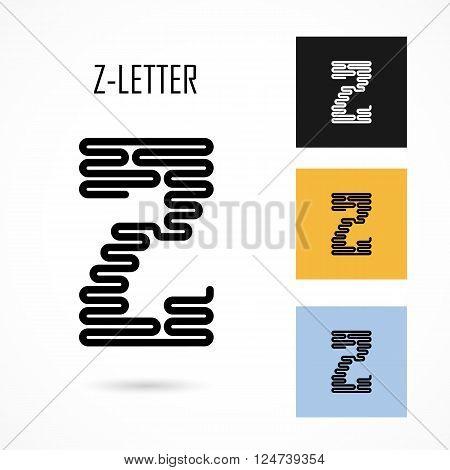 Creative Z- letter icon abstract logo design vector template.Creative Z- alphabet vector design.Business and education creative logotype symbol.Vector illustration